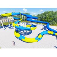 China High Platform Water Park Design Slide , Amusement Park Design Construction Team wholesale