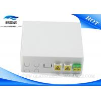 China Wall Mount Fiber Optic Termination Box , SC Fiber Optic Cable Termination Boxes on sale