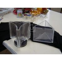 China 3 Sided Tabletop Clear Acrylic Menu Holder For Restaurant wholesale