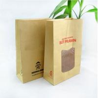 China Food Grade Customized Kraft Paper Bags Clear Window For Bread wholesale