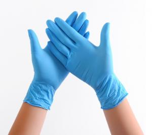 China Custom Made Length : 240mm Compound Nitrile Gloves  / Thickness : Thin wholesale