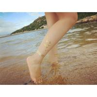 China Custom gold body tattoo stickers long lasting , ankle realistic temporary tattoos wholesale
