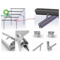 China Pre - Assembled Slope Solar PV Mounting Brackets Lightweight Excellent Endurance wholesale