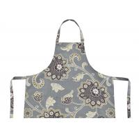 China Polycotton Canvas Bib Type Cotton Kitchen Apron With Front Pocket , Cotton Bib Aprons wholesale
