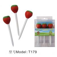 China Strawberry top golf tee  ,higher quality,cheaper golf tee wholesale