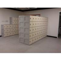 China Anti UV Aging Plastic School Lockers 4 Comparts 1 Column With Combination Lock wholesale