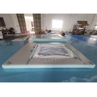 China Anti Jellyfish Yacht Inflatable Floating Ocean Pool With Net wholesale