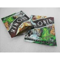 China 100 micron PET / VMPET / PE Herbal Incense Packaging Bags wholesale