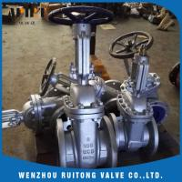 Quality API 6D 150LB 300lb cast steel wcb flange gate valve for industry for sale
