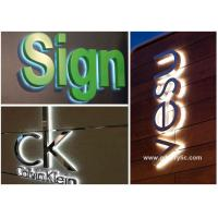 China Professional Design Solution for Metal / Acrylic Illumination led Stainless Steel Signs wholesale