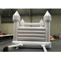 China PVC Tarpaulin Inflatable 4 Meters White Wedding Bounce House With Air Blower wholesale
