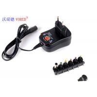 China 3 - 12V Adjustable Multi Voltage Power Adapter EU Plug PC ABS Material wholesale