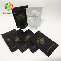 China Plastic zipper matte black Snack Bag Packaging stand up resealable coffee ziplock pouch wholesale