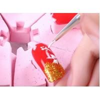China Colorful Gel Nail Brush Metal Handle Material Multi Sizes Easy Operation wholesale