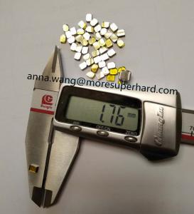 China industry use single crystal synthetic diamond / HPHT Monocrystal diamond 4x3x1.7 wholesale