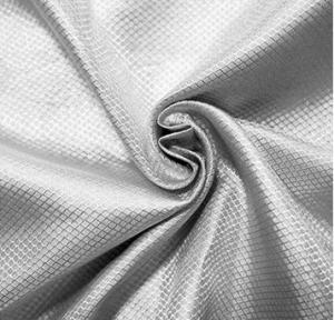 China 100%silver fiber conductive fabric antiradiation fabric diamond lattice wholesale