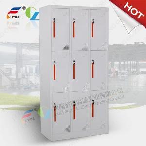 China Fashionable 6 door storage steel locker/staff metal locker,CNC laser cutting machine make on sale
