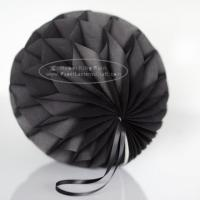 Buy cheap Dark grey Tissue Paper Honeycomb Balls Pom Poms With Satin Ribbon Loop For from wholesalers