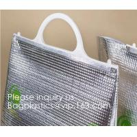 China Custom Frozen Food Insulation Foil Liner Aluminum Foil Bubble Thermal Insulation Bag,Imprint Portable Non-Woven Large In wholesale