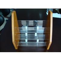 China Adjustable Acrylic Display Holders Non-toxicity With Wood Card wholesale