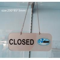 China Transparent Acrylic Photo Frames Non-toxicity with a metal chain wholesale