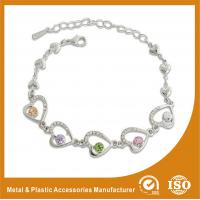 China Crystal Stone Metal Chain Bracelets Bead Charm Bracelets Jewelry wholesale