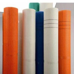 China Orange Alkali Resistant EIFS Fiberglass Mesh 4x4mm wholesale