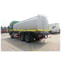 China 30cbm Fuel Tank Truck 6X4 336hp Drive EURO II Engine Green Chassis White Tank wholesale