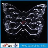 Quality Acrylic Wine Glass Tray Holder/ acrylic shot glass tray,acrylic shot glass holder tray for sale
