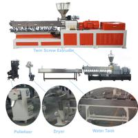 China Color Masterbatch Twin Screw Extruder , Pvc Extruder Machine Water Strand Cutting System wholesale
