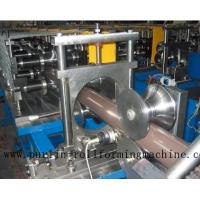 China Copper Portable Downspout Roll Forming Machine , Steel Roof Gutter Making Machine wholesale