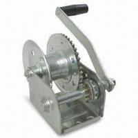 China Hand Brake Winch with 1,000lbs Capacity, Suitable for Boat Lifts wholesale