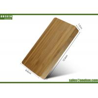 China Dual Port Wood Power Bank 3600mAh 2A USB Connected 108g With LED Lights wholesale