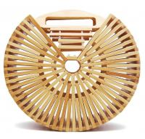 China Factory wholesale fashion beach bamboo handbags, 20cm round hand bamboo bag, shoulder bamboo bags wholesale