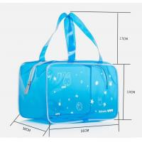 China Transparent Vinyl Cosmetic Bag Clear Toiletry Pouch Makeup Pouch Swim Beach Bag Travel Organizer Pouch wholesale
