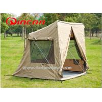 Quality canvas 4 square 1- 2person tent and Awning For outdoor camping sleep for sale