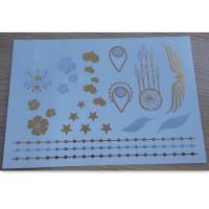 China Fake jewelry metallic temporary tattoo sticker for women Decoration wholesale