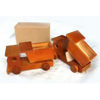 China 65730 mini decorative wooden carved model engineering truck, wooden toy on sale