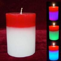 China LED Flashing Candle Lamp Made of Scented Pure Paraffin Wax, Ideal for Parties wholesale