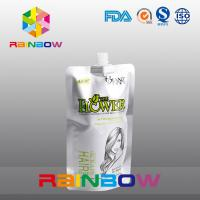 China Customized Printing White Stand Up Spout Pouch For Shampoo / Liquid / Drinking Food wholesale