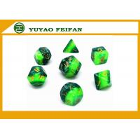 China Different Colors Play Gaming Accessories 10 Sided Marble Polyhedral Dice D10 Set wholesale