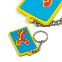 Eco - Friendly Personalized Promotional Gifts 3d Pvc Key Chain Any Color