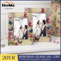 China Lightweight Portable Glass Wedding Photo Frames Anniversary Gifts High Hardness on sale