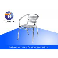 China Outdoor Stackable Waterproof Aluminum Dining Chair For Sidewalk Cafe wholesale