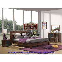 China 2016 New Nordic Design Modern Bedroom Furniture King size bed with Mirror Dresser and Side table wholesale