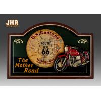 China Home Decor Antique Wooden Wall Plaques Resin Motorcycle Wall Decor Pub Signs wholesale