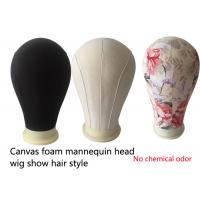 China Hair salons tools Mannequin Canvas Block Head mold printing black beige China factory wholesale
