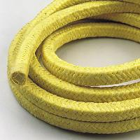 China Yellow Aramid Braided Gland Packing For Superheated Steam , Solvents wholesale