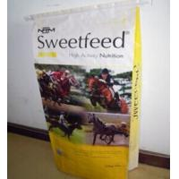 China Recycled Colorful Polypropylene Woven horse feed bags 50kg , 25kg wholesale