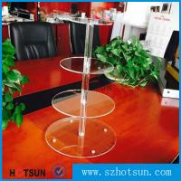 China Customized modern style 4 tier round plexiglass cake stand,acrylic cupcake stand wholesale from China wholesale